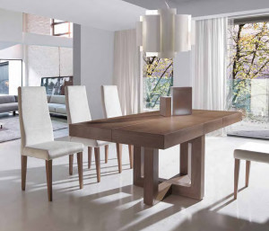 Mesa comedor rectangular extensible
