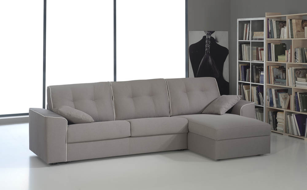 308 sofa cama nature con chaise longue - Despacho con sofa cama ...