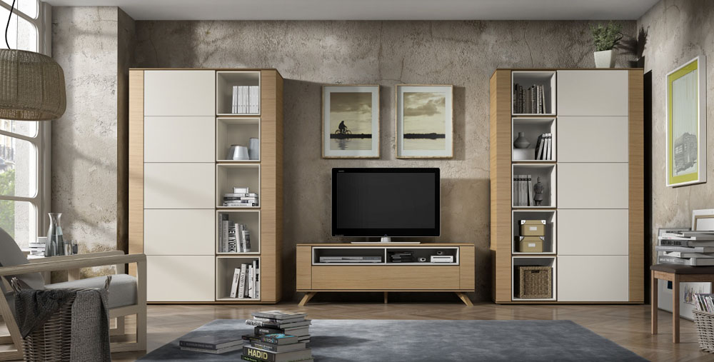 642 mueble sal n modulos altos for Muebles modulos salon