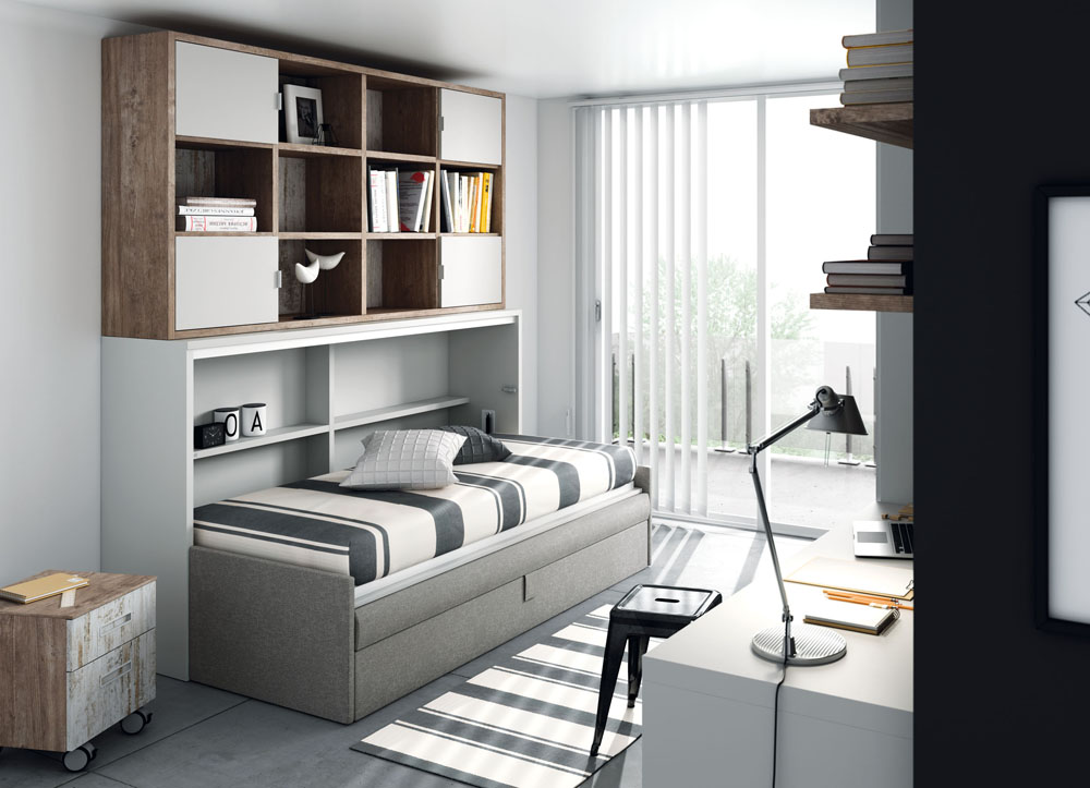 503 sofa con cama abatible horizontal - Muebles con cama abatible horizontal ...